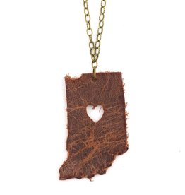 Joyful Creations Leather Indiana Necklace - Brass