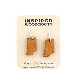 Inspired Woodcrafts Indiana Wood Earrings - Cedar