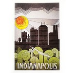 Indygenous Indianapolis: Nature & Skyline 12x18 Poster