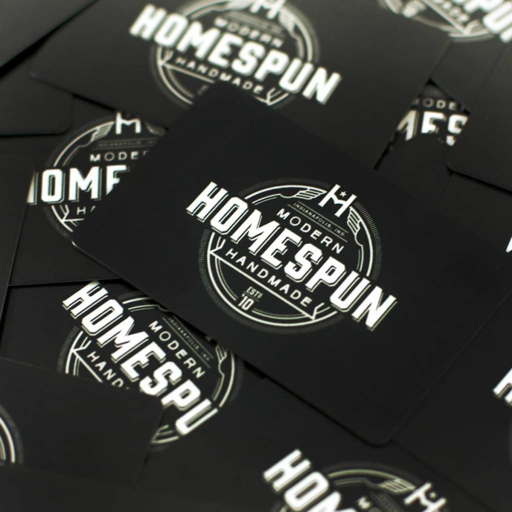 Homespun: Modern Handmade Homespun Gift Card