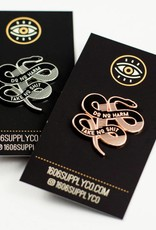1606 No Harm Rose Gold Enamel Pin