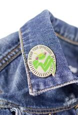 1606 Mantis Silver Enamel Pin