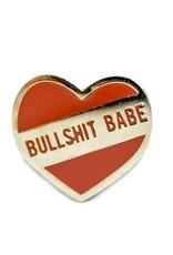 1606 Bullshit Babe Silver Enamel Pin