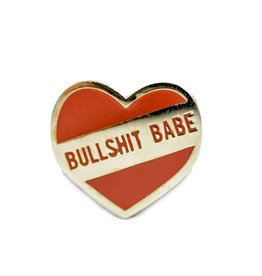 1606 // Sunset Avenue Ceramic Bullshit Babe Silver Enamel Pin