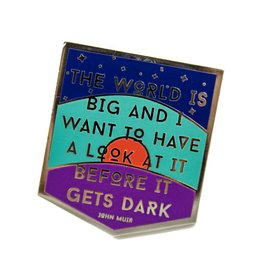 1606 Big World Enamel Pin