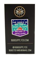 1606 Big World Enamel Pin