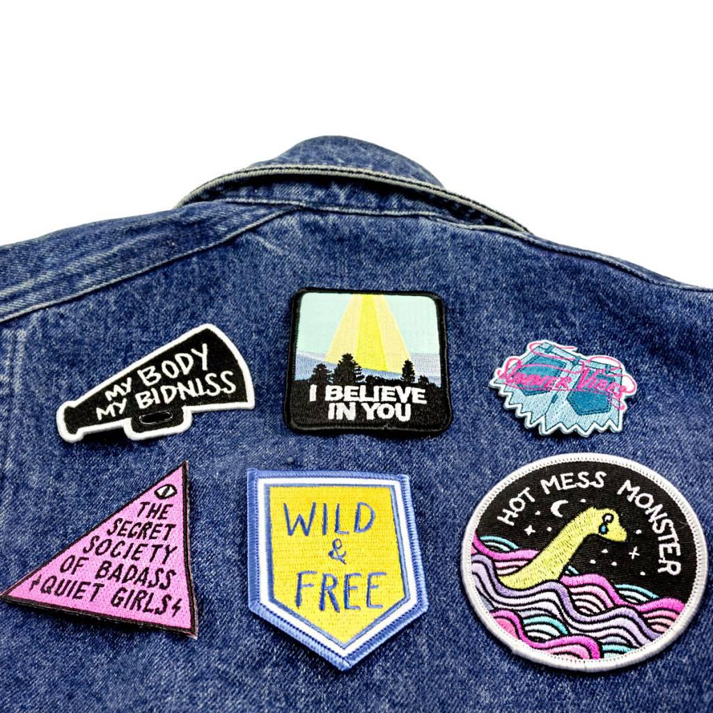 Band of Weirdos / Moss Love Badass Quiet Girls Patch