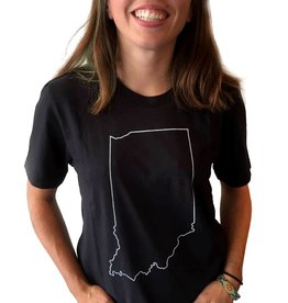 Hoosier Proud Simply Indiana Black Tee (Unisex fit)
