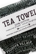 Tandem For Two Indiana Natural Silhouette Tea Towel **