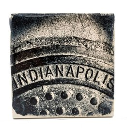 Hazel Brown Photography Indianapolis Manhole Photo Coaster