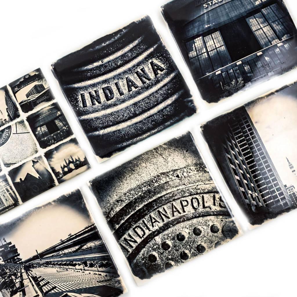 Hazel Brown Photography Indiana Manhole Cover Photo Coaster