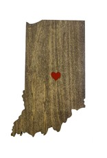 Inspired Woodcrafts Heart Indiana Cutout