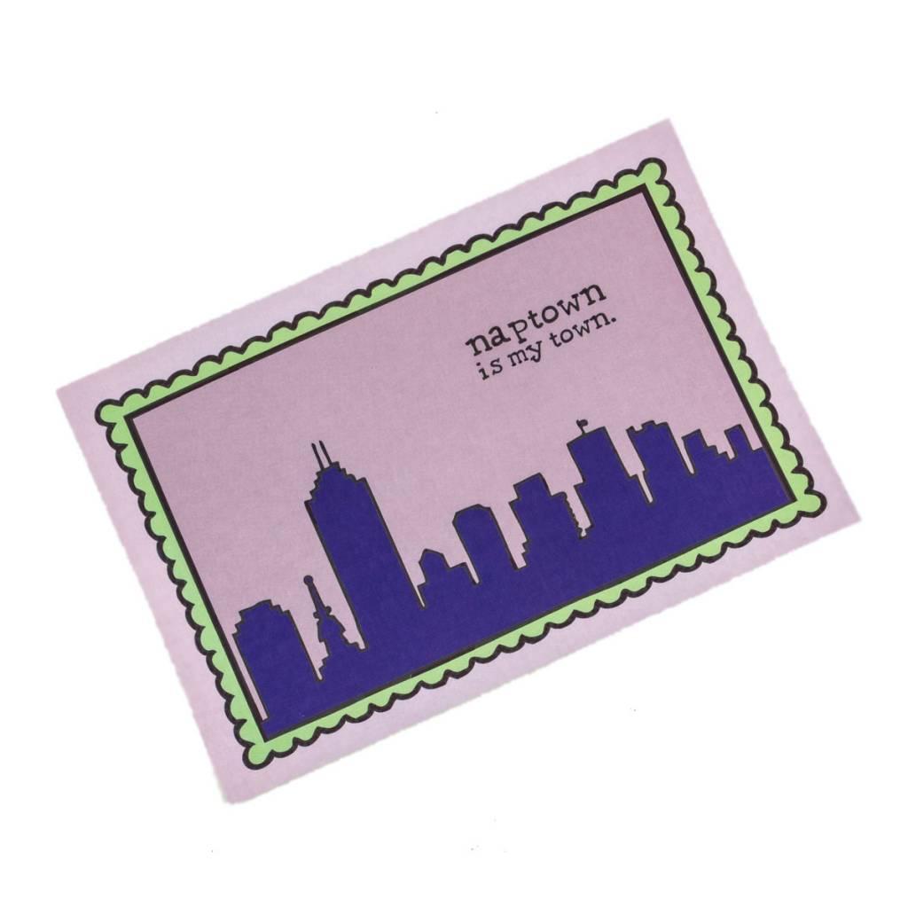 Jean Elise Designs Naptown Is My Town Postcard
