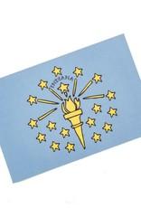 Jean Elise Designs Indiana State Flag Postcard