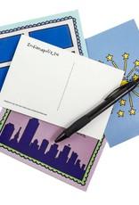 Jean Elise Designs Indianapolis Flag Postcard
