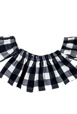 Ashes Ashes Design B&W Buffalo Plaid Top (Baby/Toddler Fit)