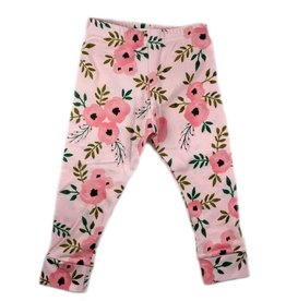 Ashes Ashes Design Pink Floral Leggings (Baby/Toddler Fit)