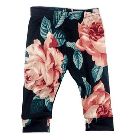 Ashes Ashes Design Black Floral Leggings (Baby/Toddler Fit)