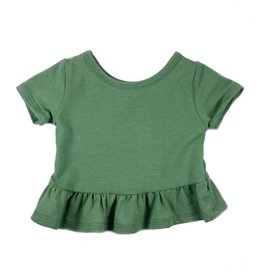 Vivie & Ash Green Peplum Top (Baby/Toddler Fit)