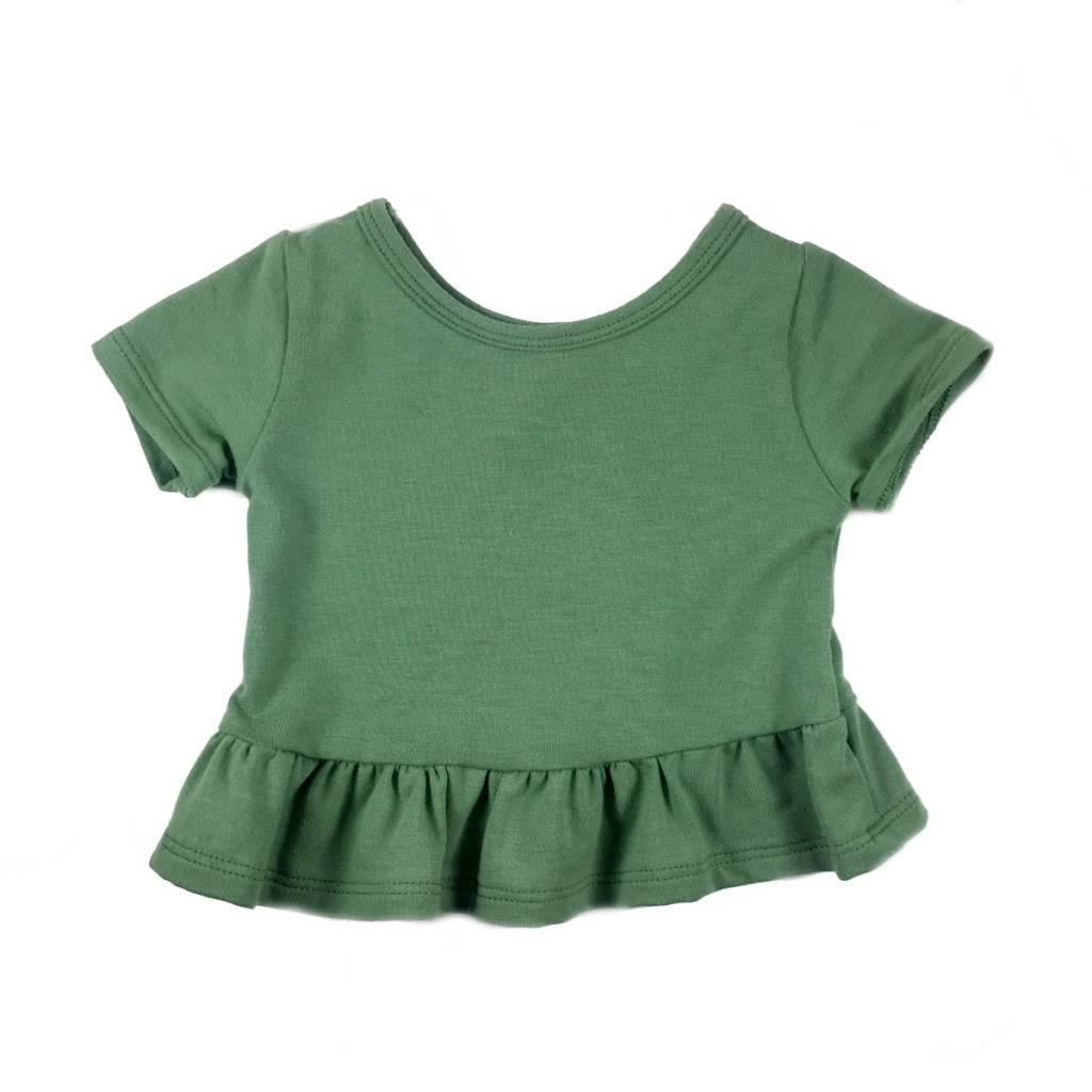Vivie & Ash Green Peplum Top (Baby/Toddler Fit)