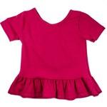 Vivie & Ash Raspberry Peplum Top (Baby/Toddler Fit)