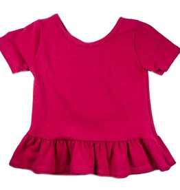 Vivie & Ash Raspberry Peplum Top (Baby/Toddler Fit)
