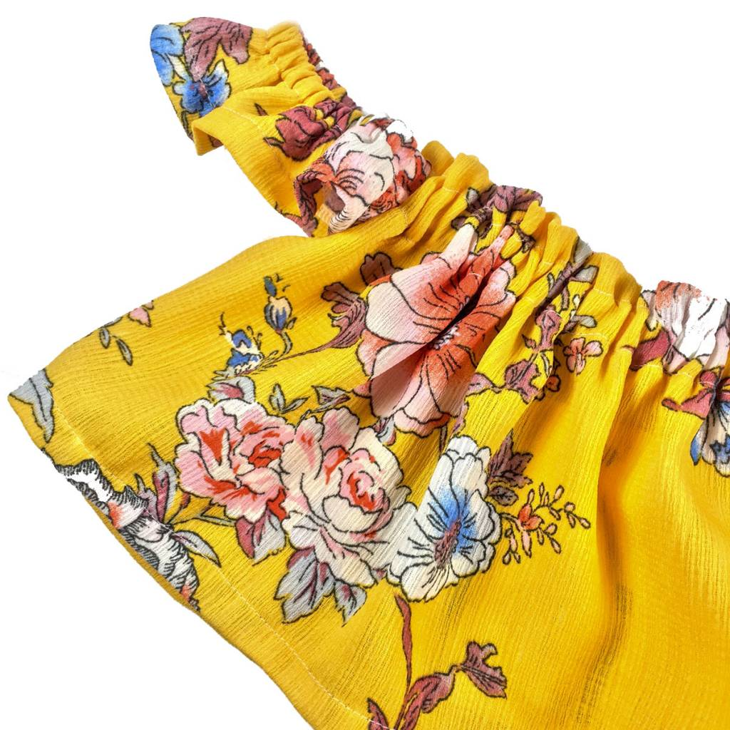 Ashes Ashes Design Yellow Floral Top (Baby/Toddler Fit)