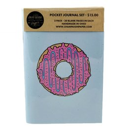Champaign Paper Donut Pocket Journal Set