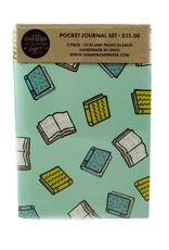 Champaign Paper Books Pocket Journal Set