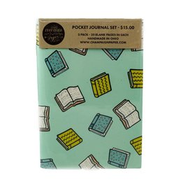 Champaign Paper Books Pocket Journal Set