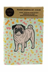 Champaign Paper Pug Pocket Journal Set