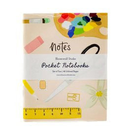 Bloomwolf Studio Pink/School Notebook - Set of 2