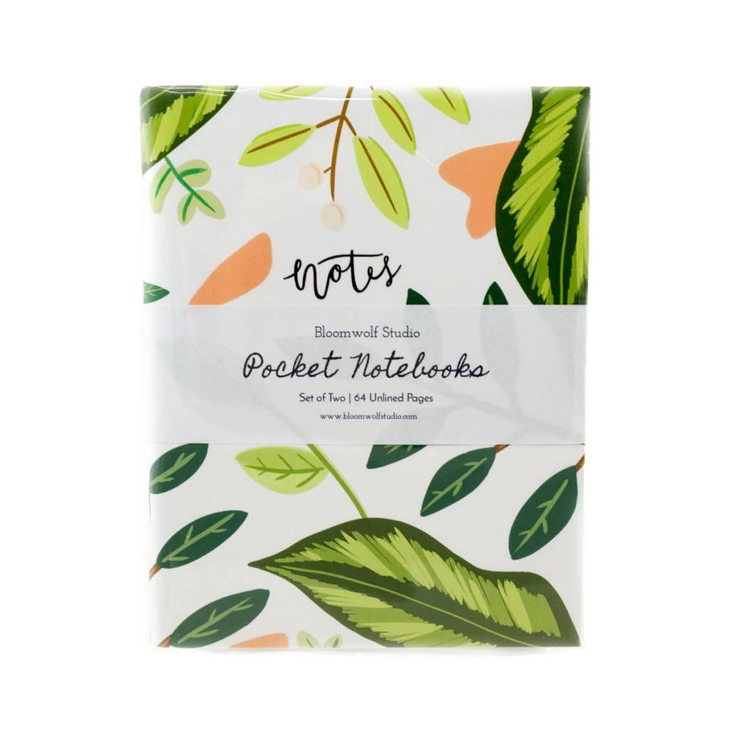 Bloomwolf Studio Cacti/Leaves Notebook - Set Of 2