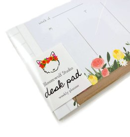Bloomwolf Studio Window Flowers Weekly Desk Pad