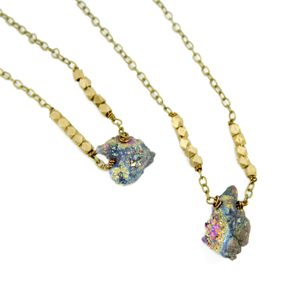 Grey Theory Mill Druzy Nugget Necklace
