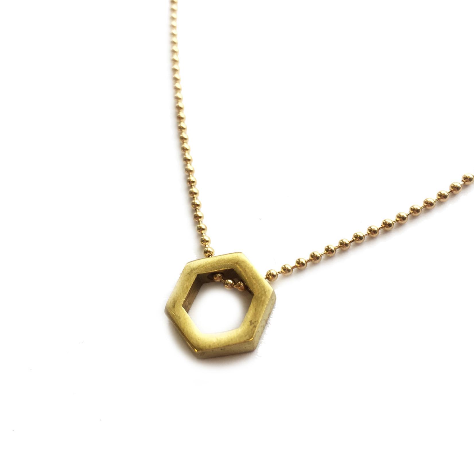 Grey Theory Mill Ball Chain Gold Choker