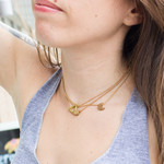 Grey Theory Mill Ball Chain Gold Choker