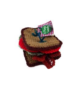 A Picnic Lunch BLT Sandwich Yarn Plush