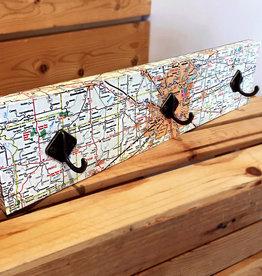 Indyardart Indianapolis Map Hookboard
