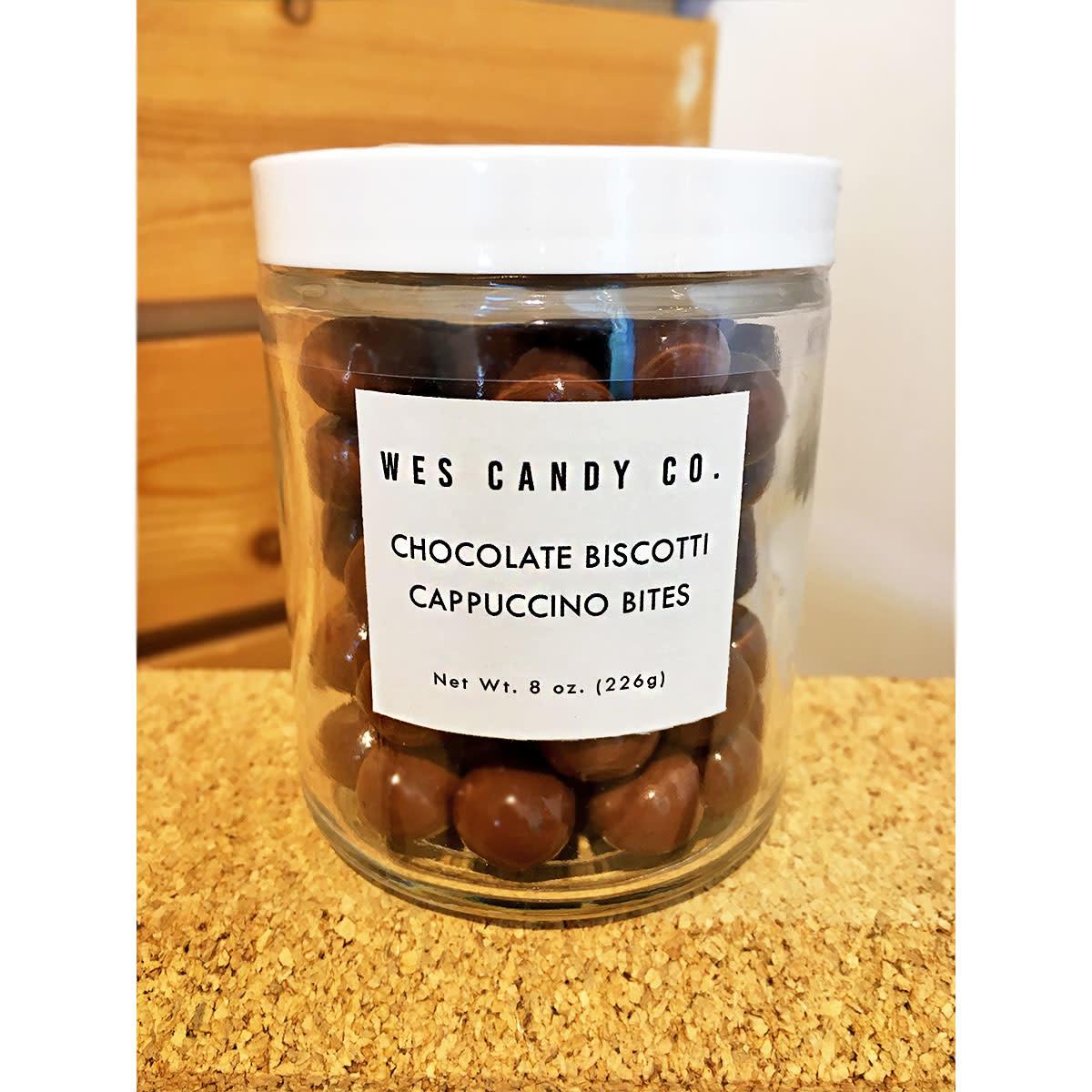 Wes Candy Co. Milk Chocolate Cappuccino Biscotti Bites Jar