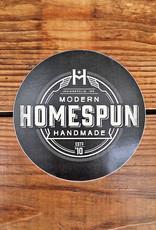 Homespun Homespun Logo Circle Sticker: White on Black
