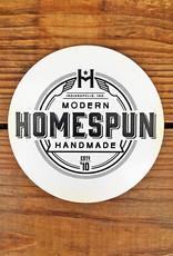 Homespun Homespun Logo Circle Sticker - Black On White
