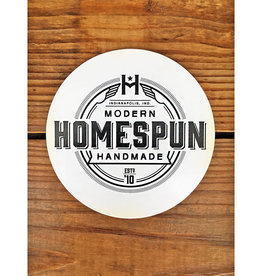 Homespun Homespun Logo Circle Sticker - Black On White