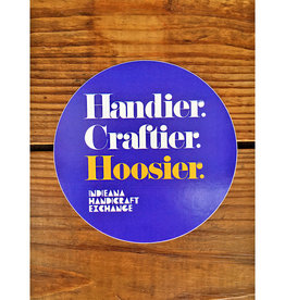 Homespun Handier. Craftier. Hoosier. Sticker