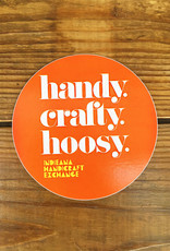 Homespun Handy. Crafty. Hoosy. Sticker