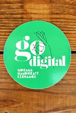 Homespun Go Digital Green Sticker