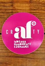 Homespun Crafty AF Sticker