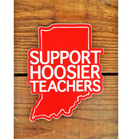 BadKneesTs Support Hoosier Teachers Window Cling