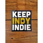 Keep Indy Indie Keep Indy Indie Sticker