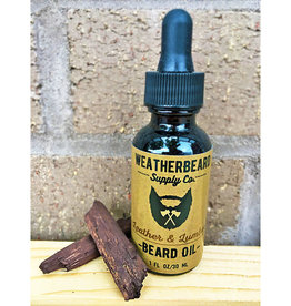 WeatherBeard Supply Co. Leather & Lumber Beard Oil